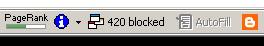 Google Bar: 420 popup blocked