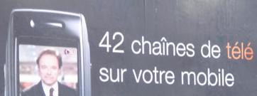 Pub Samsung/Orange: 42 chaînes de télé en direct sur votre mobile