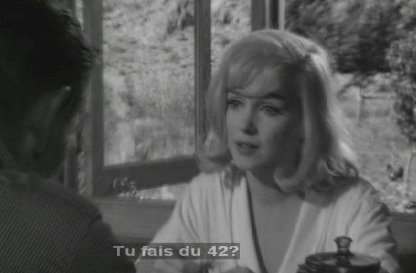 Marylin Monroe demandant : 'Tu fais du 42 ?'