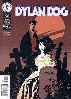 image: couverture réalisée par Mike Mignola pour la bande-dessinée 'Dylan Dog'