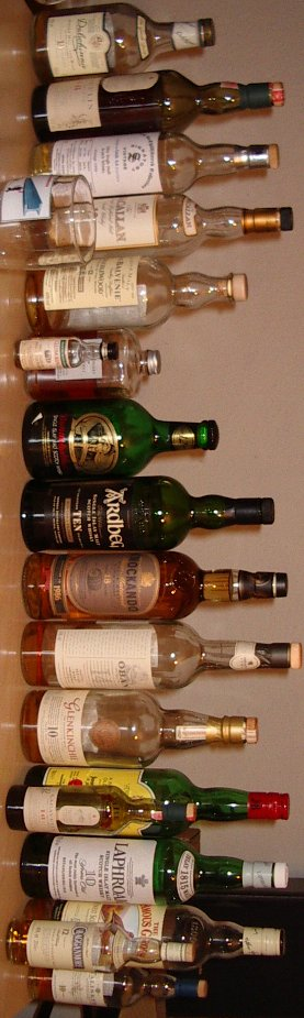 17 whiskies, dont 14 single malt scotch whiskies